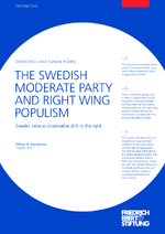 The Swedish moderate party and right wing populism